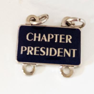 Chapter President Dangler Pin