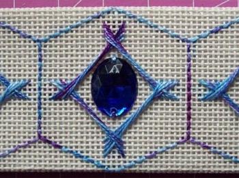 Blue Hexagon 3-Sided Ornament