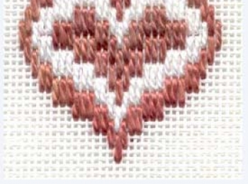 Bargello Heart