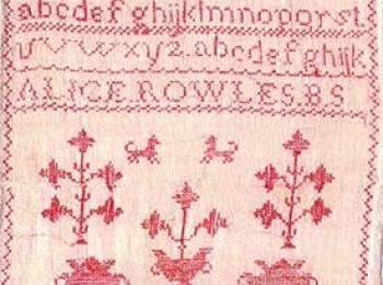 Heritage Sampler – Alice Rowles' Red